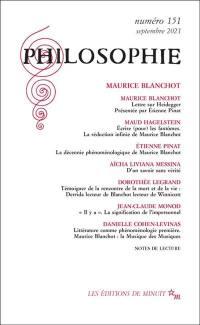 Philosophie. n° 151, Maurice Blanchot