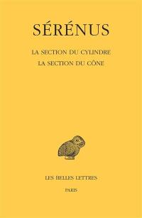 La section du cylindre; La section du cône