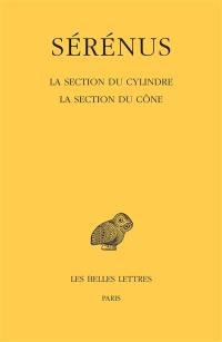 La section du cylindre; La section du cône