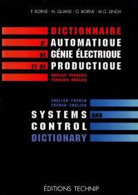 Dictionnaire d'automatique, de génie électrique et de productique