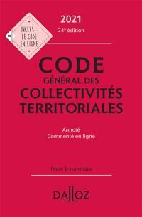 Code général des collectivités territoriales 2021