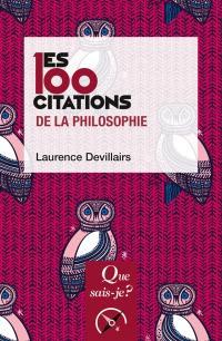 Les 100 citations de la philosophie