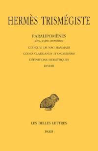 Corpus hermeticum. Volume 5, Paralipomènes, grec, copte, arménien