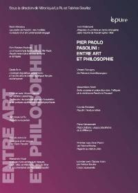 Pier Paolo Pasolini entre art et philosophie