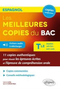 Les meilleures copies du bac, espagnol, terminale toutes séries LV1-LV2