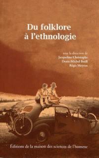 Du folklore à l'ethnologie