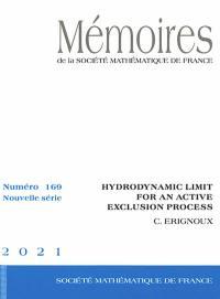Mémoires de la Société mathématique de France. n° 169, Hydrodynamic limit for an active exclusion process