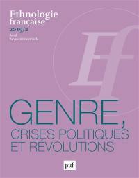 Ethnologie française. n° 2 (2019), Genre, crises politiques et révolutions
