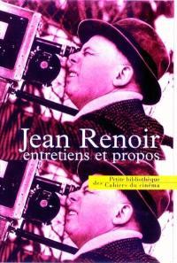 Jean Renoir, entretiens et propos