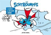 Les schtroumpfs : cahier de dessin animé : Le schtroumpf volant et La schtroumphette et la lune