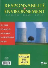 Responsabilité et environnement. n° 50, Les leviers économiques et financiers du développement durable