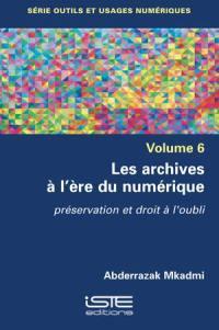 Les archives à l'ère du numérique