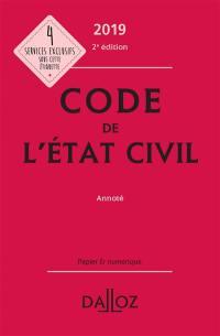 Code de l'état civil 2019