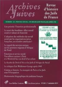 Archives juives. n° 45-1,