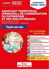 Assistant territorial (principal) de conservation du patrimoine et des bibliothèques