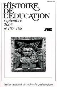 Histoire de l'éducation, n° 107-108. Bibliographie d'histoire de l'éducation française : titres parus au cours de l'année 2002 et suppléments des années antérieures