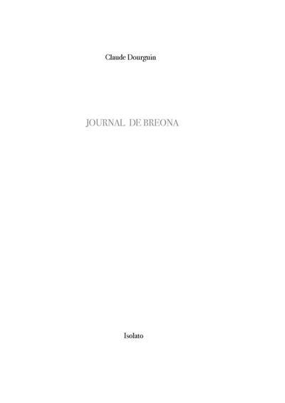 Journal de Bréona, Notes sur la montagne