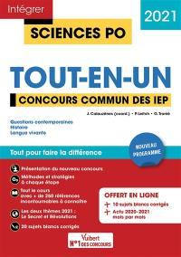 Tout-en-un, concours commun des IEP 2021
