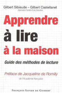 Apprendre à lire à la maison