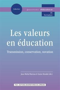 Les valeurs en éducation