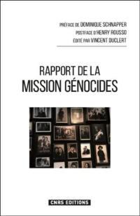 Rapport de la Mission d'étude en France sur la recherche et l'enseignement des génocides et des crimes de masse