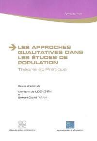 Les approches qualitatives dans les études de population