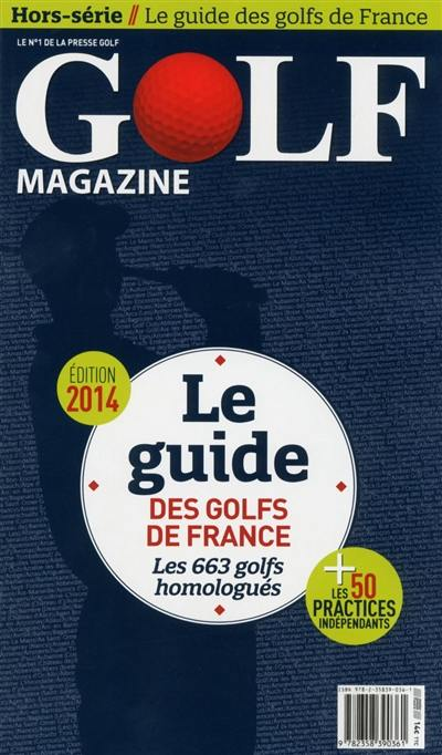 Le guide des golfs de France 2014