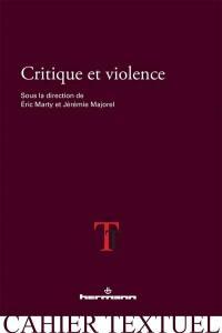 Critique et violence