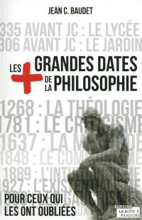 Les + grandes dates de la philosophie