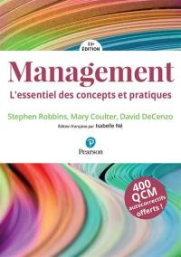 Management : l'essentiel des concepts et pratiques : 400 QCM autocorrectifs offerts !