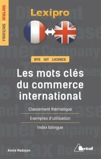 Les mots-clés du commerce international, anglais