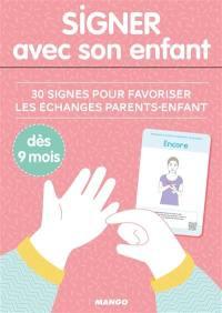 Signer avec son enfant