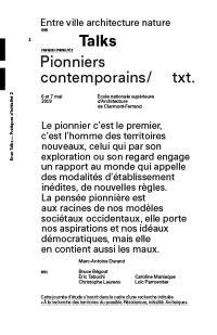 Entre ville architecture nature. Volume 2, Pionniers contemporains