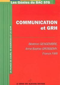 Communication et GRH : 25 fiches de cours, 50 exercices et 25 QCM