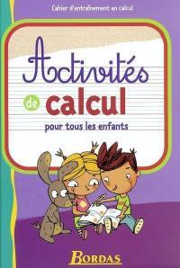 Activités de calcul pour tous les enfants