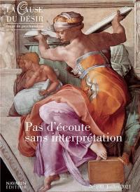 Cause du désir (La). n° 108, Pas d'écoute sans interprétation
