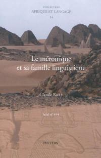 Le méroïtique et sa famille linguistique