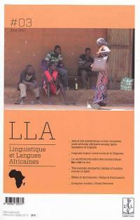 Linguistique et langues africaines. n° 3,