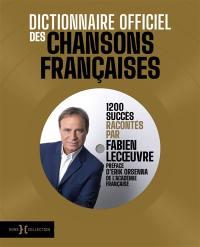 Dictionnaire officiel des chansons françaises