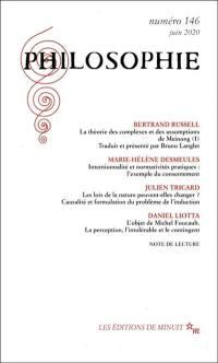 Philosophie. n° 146,