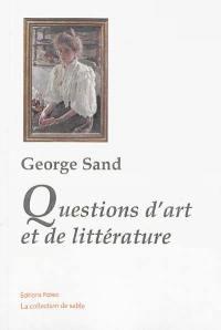 Questions d'art et de littérature