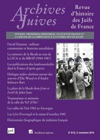 Archives juives. n° 51-2, Première(s) mémoire(s)
