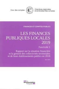 Les finances publiques locales 2019, fascicule 1