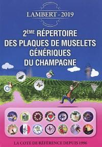 Répertoire des plaques de muselets du champagne, 2019