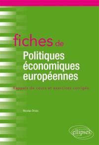 Fiches de politiques économiques européennes