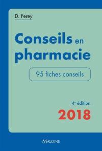 Conseils en pharmacie 2018
