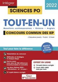 Tout-en-un, concours commun des IEP 2022 : questions contemporaines, histoire, anglais
