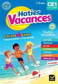Hatier vacances, CE1 vers le CE2, 7-8 ans : conforme aux programmes