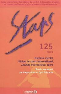 Staps. n° 125, Diriger le sport international