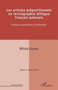Les articles prépositionnels en lexicographie bilingue français-polonais